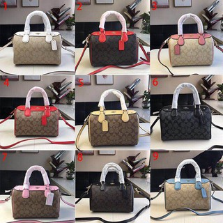 Review New Coach F58312 New Boston Pillow Bag กระเป๋าสะพายกระเป๋าถือ