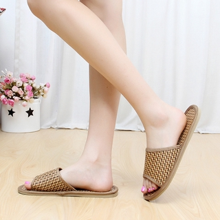 Natural tropical rattan lovers home slippers rattan grass woven men and women running in the lake slippers bamboo rattan summer cool slippers