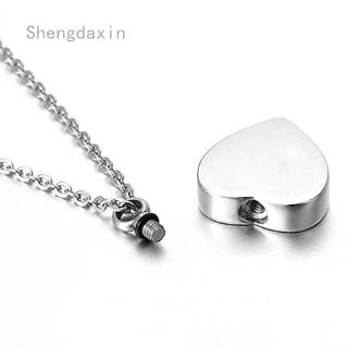 Shengdaxin Heart Shape Necklace Wings DAD GOD ANGEL Pendant Warm Love Family Memory Wedding