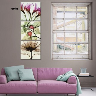 Review Richu_3 Pieces Abstract Flower Art Wall Paintings No Frame Poster Modern Home Decor