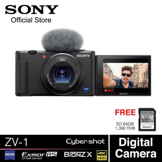 Sony ZV-1 Digital Camera 20.1MP ZEISS Lens 4K Recording with Internal Microphone