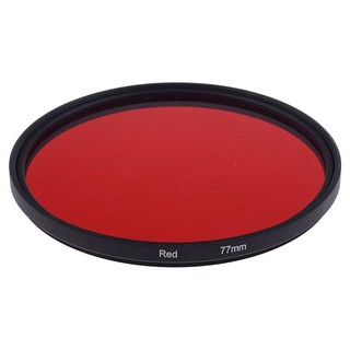 Review 77mm Full Red Color Filter for Camera Lens with 77mm Filter Thread