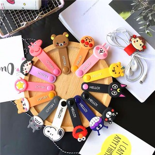 Cartoon USB Cable Bobbin Winder Data line Protector Earphone Wire Cord Organizer Management fas