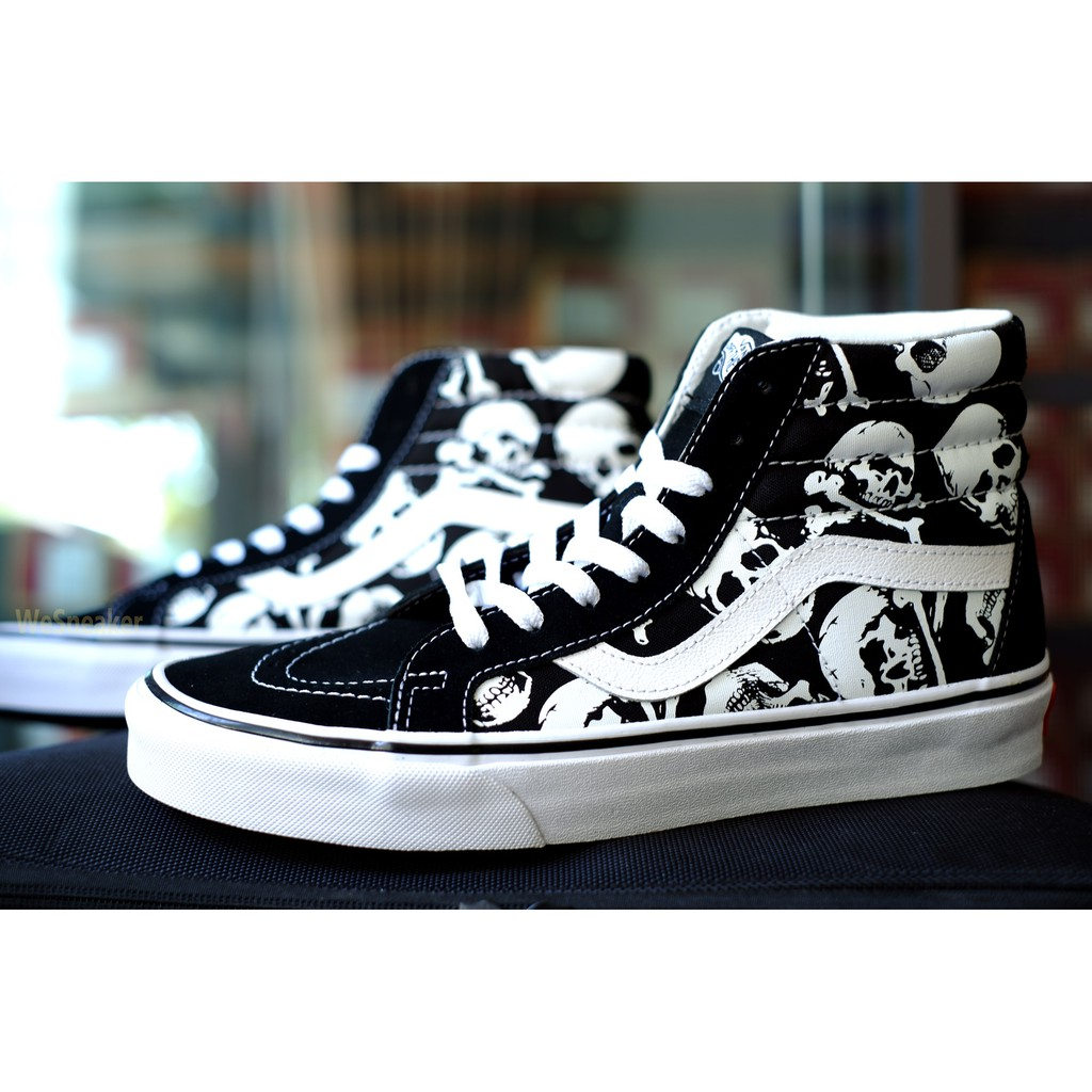 Image # 8 of Review 【VANS】SK8 (Hi) - Skulls/Black/True White การันตีของแท้ 100% by www.WeSneaker.com : VANS Authorized Online Dealer