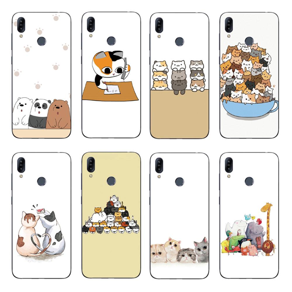 Review Cute Bare Bear Back Cover Asus Zenfone Max Pro M2 ZB631KL / ZB633KL Soft TPU Case