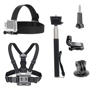 Review 3 in 1 Universal Waterproof Action Camera Accessories Bundle Kit - Head Strap
