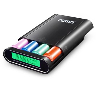 The best TOMO M4 Battery Charger 4*18650 Power Bank External USB Charger with Intelligent LCD Display for iPhone X Samsung S8 Not