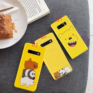 Review Samsung S10e S10 Plus S9 S7 Edge S8 Note 9 8 Cartoon Bare Bears Patterned Soft TPU Silicon Phone Case Cover