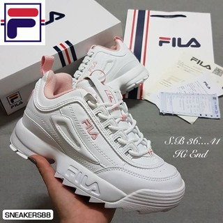 Review FILA DISRUPTOR II 2 Pink Flamingo 100💯 รองเท้าฟีล่า