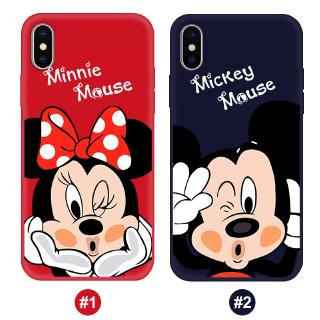 iPhone 6 6S 7 8 7Plus 8Plus X XS XSMAX XR 11 PRO MAX Mickey Minnie TPU Cover Soft case【
