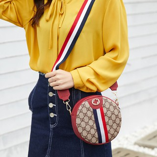 Review Han edition  new net red envelope bag female fashion mini wide straps color small round bump students inclined sh k