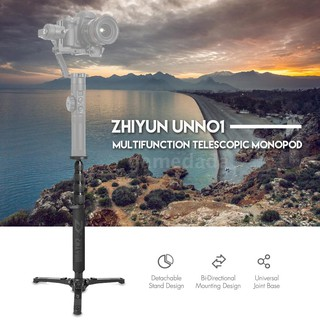 G&M Zhiyun UNN01 Multifunction Telescopic Monopod Detachable Stand Design Bi-Directional Mounti
