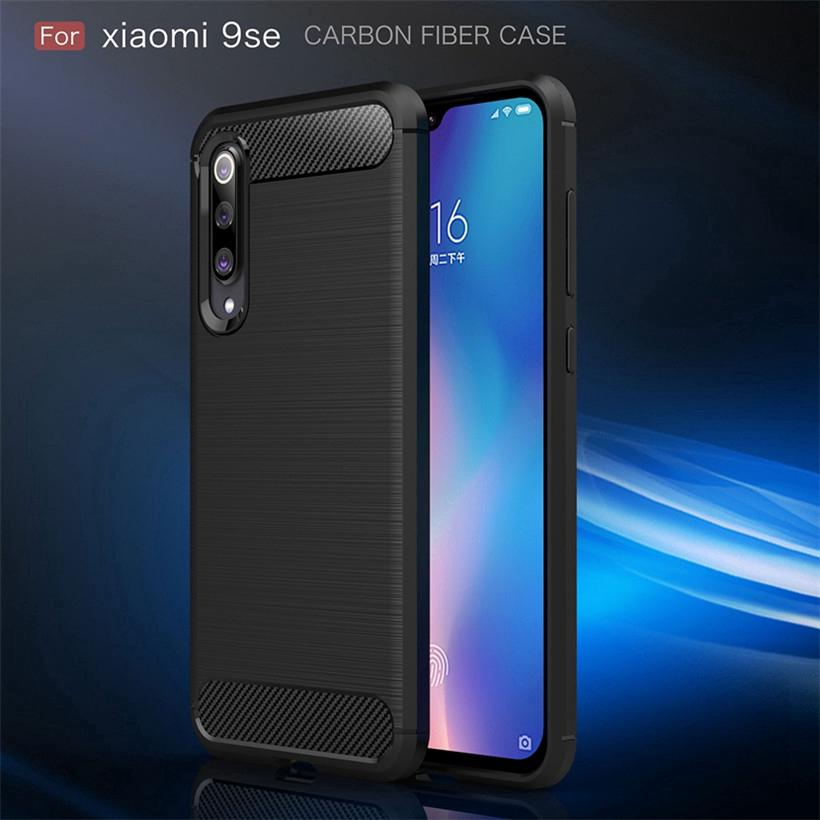 Review Xiaomi Mi9 Mi9 SE Case  Carbon Fiber Soft Cover