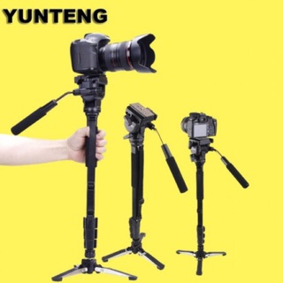 Yunteng VCT-288 Monopod Tripod With 3 Legs Unipod Holder and Phone