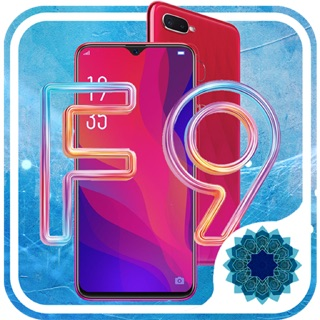 Review Oppo F9 blue red puple