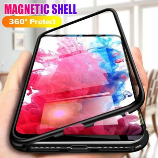 Review Samsung A10 A10S A20 A20S A30 A30S A50 A50S A70 A70S C7 C9 Pro M30S Metal Tempered Glass Magnetic Adsorptio Case เคสแข็ง