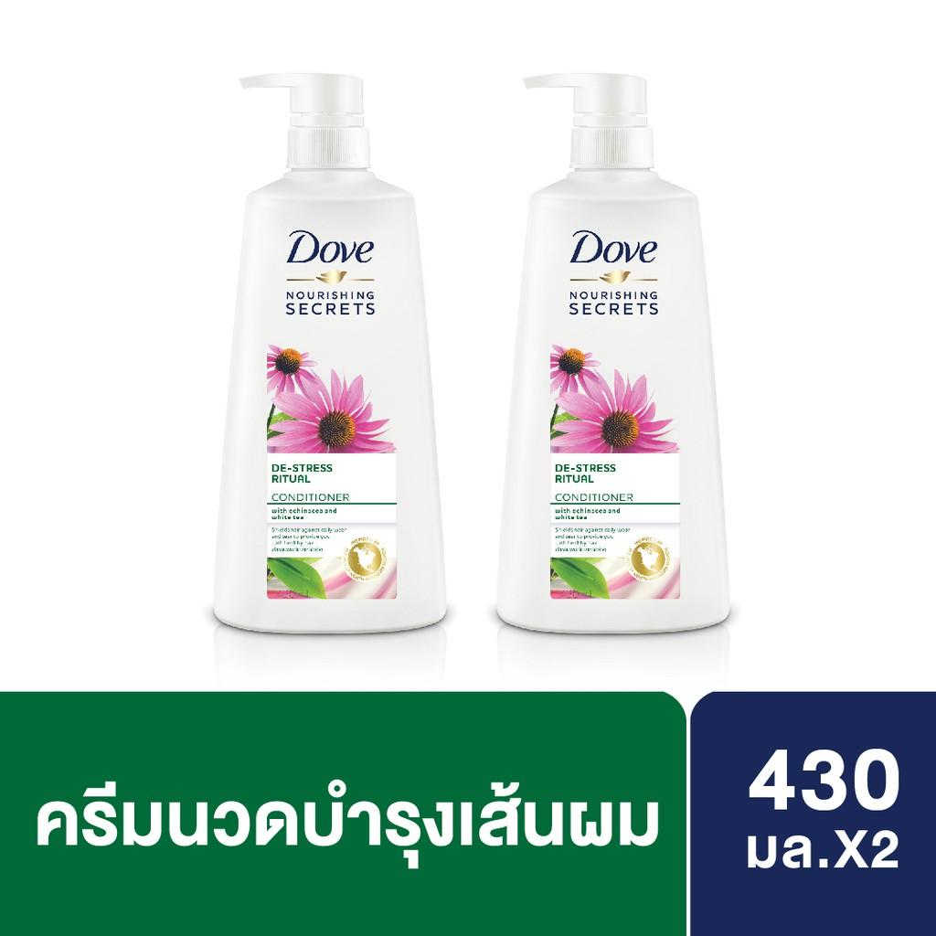 DOVE Conditioner Nourishing Secrets De-Stress Rituals Green 430ML x2 UNILEVER