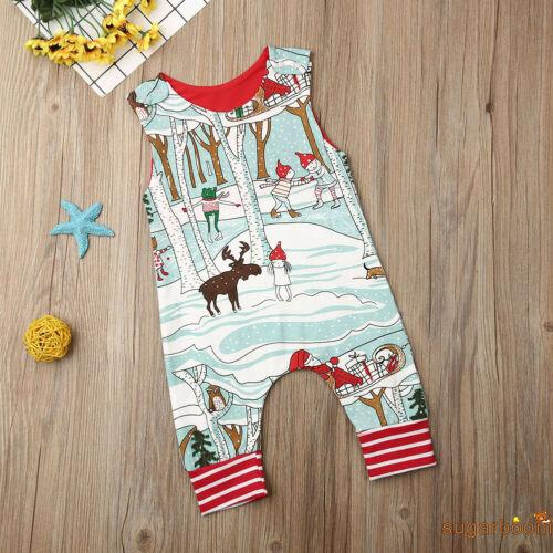 Image # 6 of Review SgmNewborn Baby Girl Boy Christmas Costume Santa Romper Jumpsuit Bodysuits Clothes Xmas Outfits