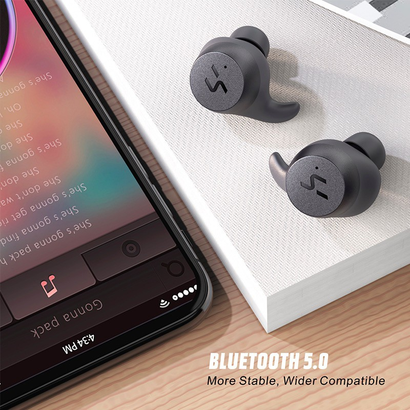 Image # 6 of Review 2019 NEW Havit G1pro Bluetooth Earphone Wireless TWS Sport Headset IPX6 Touch Screen Panel Earbuds With Microphone Bilat