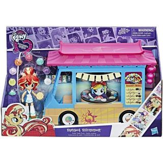 My Little Pony Equestria Girls Rollin' Sushi Truck Sunset Shimmer Minis รถโพนี่ขา