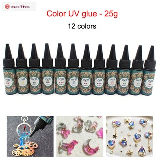TF▶ UV Resin 25g Ultraviolet Curing Epoxy Resin for DIY Jewelry Making Craft Decoration Casting Coating
