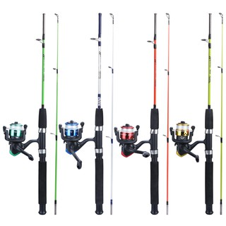 Sougayilang เบ็ดตกปลาครบช 2 section spinning fishing rod and 3BB spinning fishing reel for outdoors fis