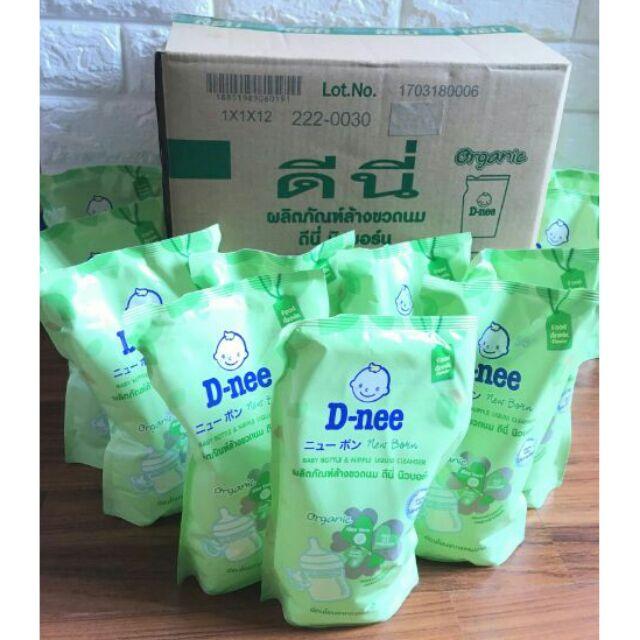 น้ำยาล้างขวดนม D-Nee ขนาด 600 ml -จำนวน 1 ลัง (12 ถุง) ราคา 485 บาท **จำกัดออร์เดอร์ละ 1 ลังนะครับ**