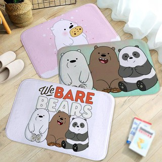 Home Decor Cartoon Cute We Bare Bears Print Bathroom Kitchen Non-slip Floo