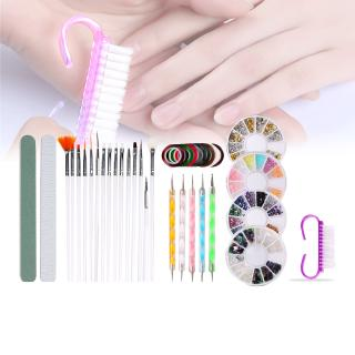 Review DIY Decorative For Beginners Polishing Home Portable Nail Art Set