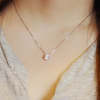 Review Clavicle chain 925 Sterling Zircon สร้อยคอ Pendant
