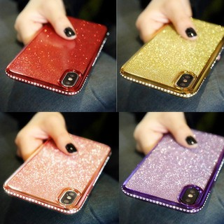 Review Glitter Casing VIVO V9 Y85 V15 Pro V11 V11i Y69 Y83 Y79 Y71 Bling Cover V7 V5 Lite Y93 Y91 Soft Case การชุบขอบแววเพชรเคส
