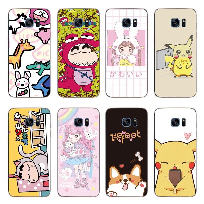 Cartoon Pikachu Back Cover Samsung Galaxy Note5/Note 4/S6/S7 Edge Soft TPU Case