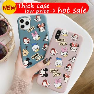 Cartoon litter Duck mouse iphone 6 6s 7 6plus 7plus 8plus 8 plus X Xr Xs 11 pro Max pink thick cute TPU Soft phone