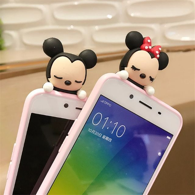 Image # 2 of Review เคส Huawei P9  P9plus P10plus iphone 6 6s 6plus 7plus vivo V5s ฝาหลังทีพียูการ์ตูนปีนจอ Mickey Minnie Mouse Donald Duck