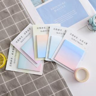 1pcs Creative and elegant gradual change message note N times sticky note pad Small fresh sticky note memo Office study