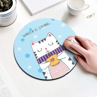 [* Ready Stock] Cute Round Cartoon Mouse Mat for Study and Work  Hot selling & various s