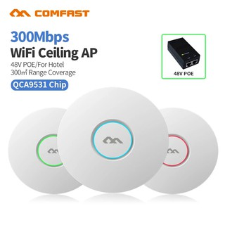 The best COMFAST 2.4g 300Mbps เพดานไร้สาย WIFI AP CF-E320V2 Ceiling Wireless AP