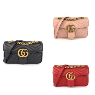 Review New Gucci Marmont Flab 22cm All Color