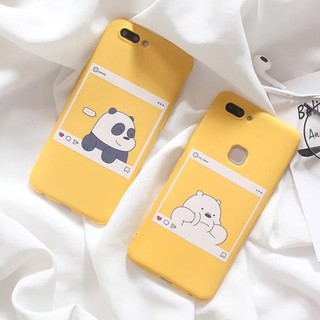 Oppo A9 A5 2020 A3s A83 A57 A73 A37 F5 f1s F9 F7 We Bare Bears Soft TPU Case Cover Co