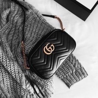 Review GUCCI GG Marmont Matelassé Shoulder Bag