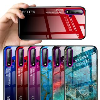 Review UFlaxe Hard Case Huawei Nova 5T 4 3e 4e 5 Pro 5i Gradient Glass Shockproof Cover JB1 Casing