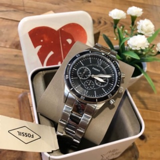Review นาฬิกา Fossil Flynn Sport Chronograph Silver Black Men's BQ2226 Watch ของแท้