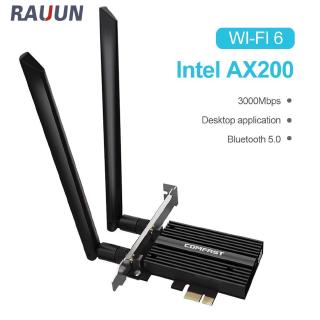 【Ready Stock】 Wireless Dual Band 3000Mbps WiFi 6 Intel AX200 PRO  PCIE Bluetooth 5.0 Wifi Network Card AX200NGW 2.4G/5G 802.11 AX 【Rauun】