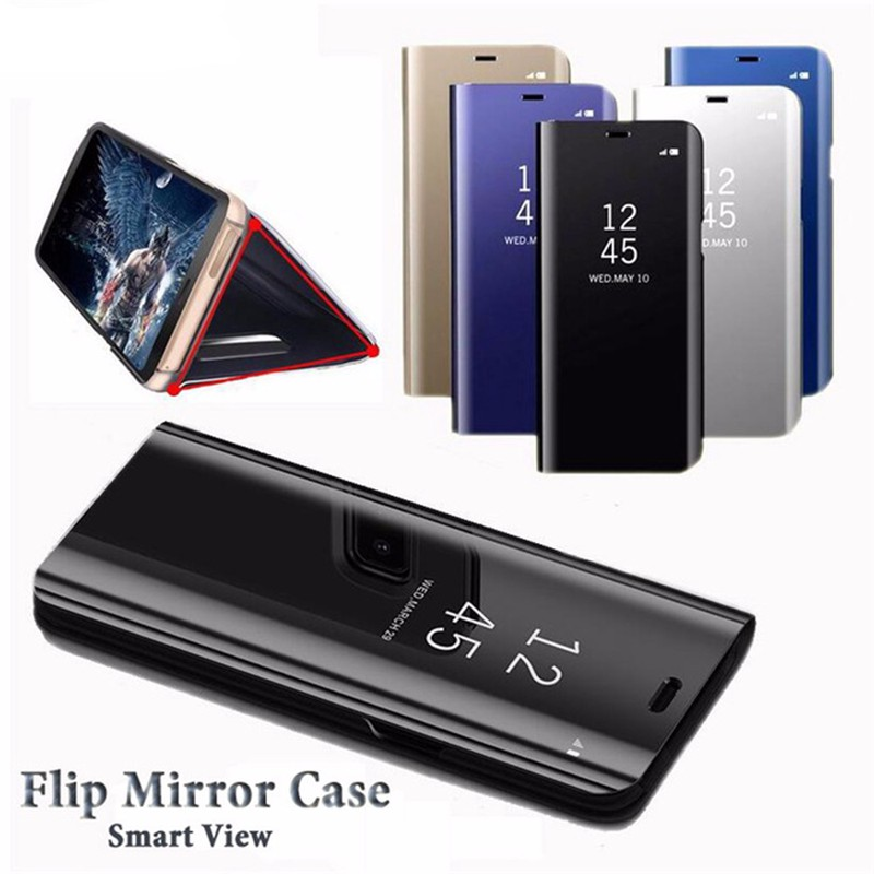 Image # 1 of Review Asus Zenfone Max Pro M2 ZB631KL เคสฝาพับ Hard Cover Smart Flip Stand Mirror Case เคสแข็ง