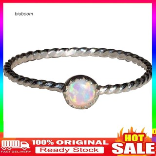 Review 【B.Ring】_Wedding Engagement Party Women Round Faux Opal Inlaid Finger Ring Jewelry Gift