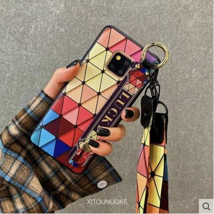 Review Huawei Mate 20 Mate 20 Pro Mate 20X phone case colorful diamond wrist band imitation leather protective cover