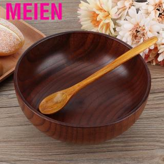 Review Meien Dining Wooden Noodles Rice Bowl Utensils Salad Food Container Home Kitchen Tableware