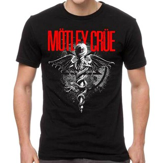 Review Motley Crue T-Shirt Dr Feelgood Logo Tee New Authentic Casual Tee Father'S Day Gift