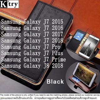 เคส Samsung Galaxy J7 Pro 2017 Case Luxury Leather Card