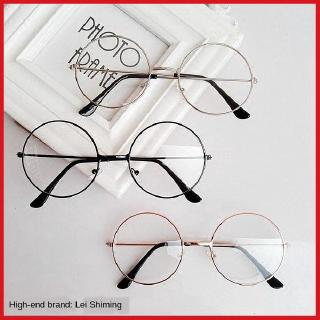Round Korean style student glasses frame myopia glasses female round frame no degree plain glasses male